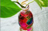 Florero de botella de Coca Cola DIY