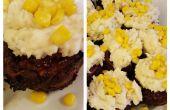 Cupcakes de pastel de carne