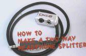 Cómo hacer un splliter auricular de dos vías!