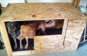 Madera casa club de perro de peluche garaje vida