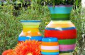 Vasijas de primavera a rayas