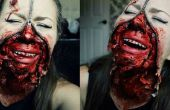 Tutorial de maquillaje de Halloween de cara de cremallera