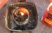 Motor de arranque de carbón de leña
