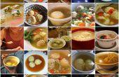 Sopa vegetariana de Matzo Ball