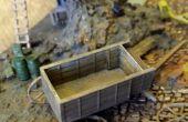 Construir un impreso 3D 1: 100 escala carro dibujado caballo