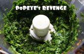 La venganza de Popeye - ensalada de espinaca cruda