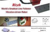 Cómo hacer el más pequeño robot velocista mundo (robo Rizeh)