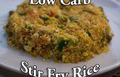 Arroz frito de carbohidratos de baja