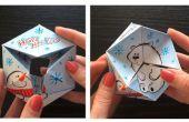 Juguete de papel de caleidociclo con un diseño dibujado a mano