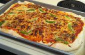 Caseras de masa de Pizza y salsa de