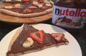 Pizza de postre de Nutella (pasta de cero!!)