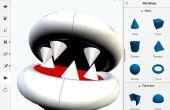 Imprimible Mario 3D planta de alcantarillado tubería y Piraña