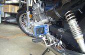 Montaje de cámara posterior reposapiés de la motocicleta