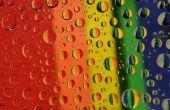 Gotas de agua arco iris foto