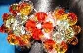 Hacer un anillo de cristal deslumbrante mariposa