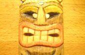 Tallar una máscara de Tiki de miniatura y color barato y respetuoso del medio ambiente