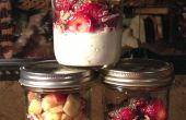 Queso Cottage y fruta desayuno hecho en casa