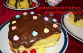 Romántica Boston crema tarta de corazones para el día de San Valentín