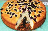Cómo hacer un sencillo pastel de arándano
