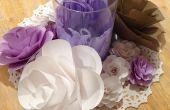 Flores en papel de cartulina