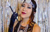 1920 ' s el gran Gatsby inspirado en pelo y maquillaje