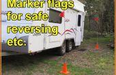 Marcador de banderas inversión del coche/del acoplado con seguridad