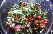 Raddish y tomate ensalada