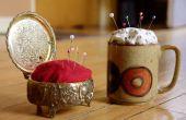 Hacer un alfiletero de una caja de joyería Vintage o taza de café