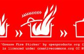 Etiqueta de seguridad de incendio de grasa