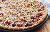 Pizza de harina de avena de la baya
