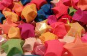 Cómo hacer estrellas de papel de Origami