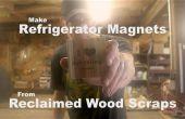 Hacer imanes de nevera de trozos de madera recicladas