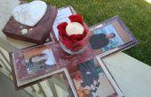 Explosión de bricolaje caja boda invitaciones/anuncios.