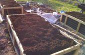 No riego elevado sistema de jardinería la cama (Hugelkultur)