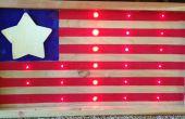 Bandera de LED americano.