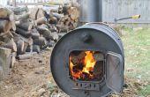 Construcción de una estufa de barril Simple