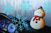 Muñeco de nieve DIY | Dejar ventanas del coche al vapor para arriba