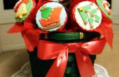 ¿Dulce presente para dar: ramo de Cupcakes de Navidad