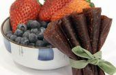 Frutas receta de cuero