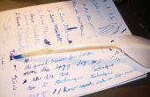 Hacer una pluma real escritura quill