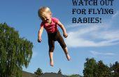 Cartel de Halloween bebé volador