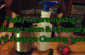 Cómo hacer un rosa limón Romero todo propósito hierbas limpiador