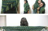 Cocodrilo puntada chal – patrón Crochet gratis