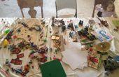 Estantería y mesa de Lego de bloqueo