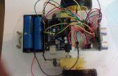 Arduino robot moviéndose hacia adelante y hacia atrás utilizando HC-SR04 y L293D