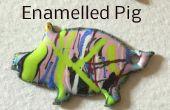 Esmaltada insignia de cerdo