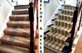 Renovar la escalera moqueta