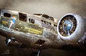 Aviones HDR foto procesamiento