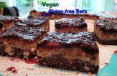 Barras de caramelo del turrón vegano blackberry