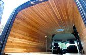 Revestimiento de madera de cedro para interior de van